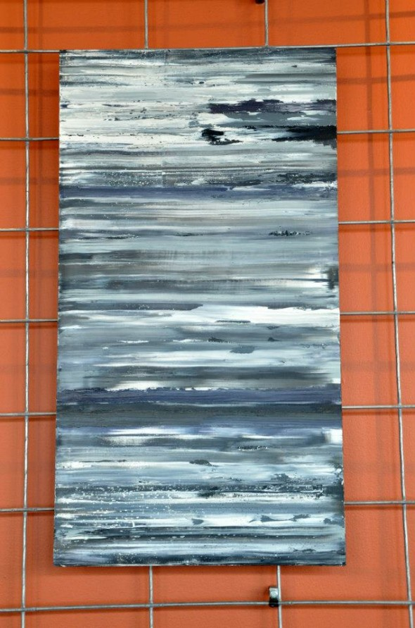 December 13th, 2008 (2011, oil on board 33 x 18, $600)