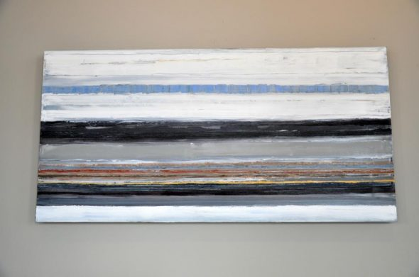 Long Journey (2013, oil on canvas 48 x 24, $1100)