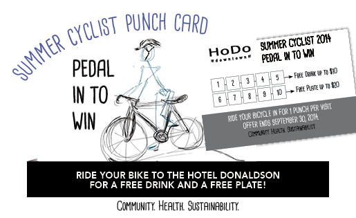 Summer Cyclist Punch Card